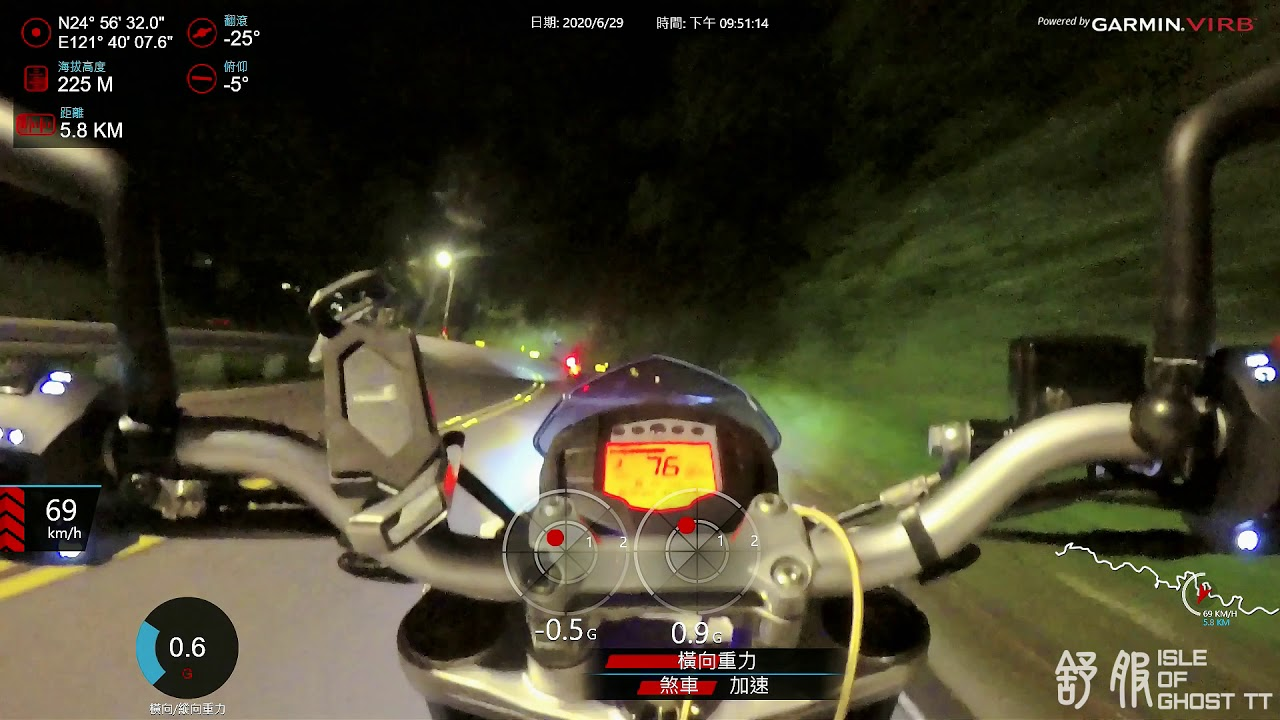 北宜夜跑 明隧道-海倫 新舊KTM DUKE 390