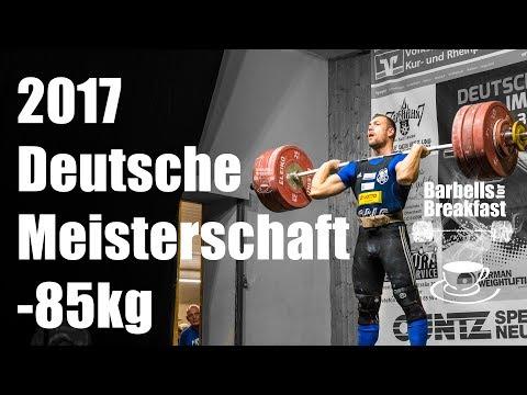 2017 Deutsche Meisterschaft Gewichtheben bis 85kg