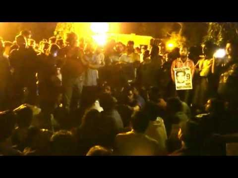 Must hear Shuddhabrata Sengupta speaking at JNU VC House Gate in Solidarity with Justice For Najeeb