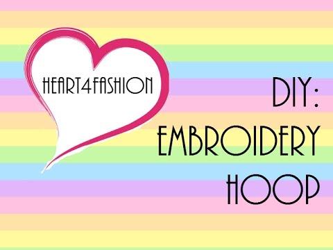Diy embroidery hoop youtube diy embroidery hoop ccuart Choice Image