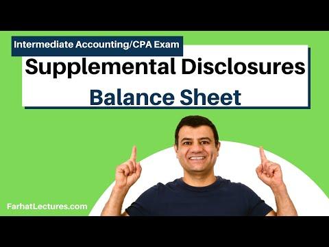 Balance Sheet Supplemental Disclosures   Intermediate Accounting   CPA Exam FAR