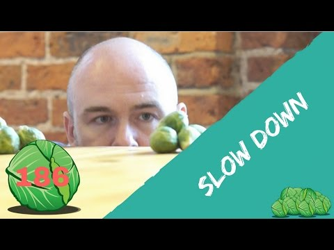 Stressed and all of a rush?  Slow Down | daily sprout 186