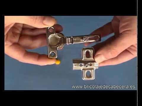 Modelos de bisagra de cazoleta y partes que la componen for Modelos de bisagras