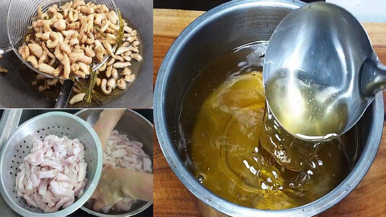 น้ำมันหมูเจียว วิธีล้างมันหมูไม่ให้เหม็น วิธีเจียวให้ได้น้ำมันใสๆ แถมกากหมูกรอบ Asia Food Secrets