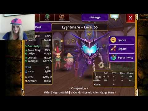 Arcane Legends My Friend Lyghtmare Very  OP Warrior :)