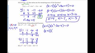 Algebra 2 Practice Chapter 5 Test #16-21