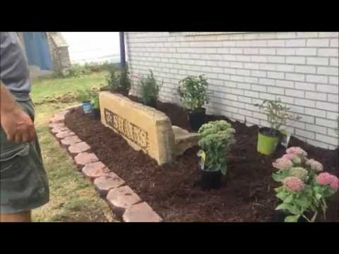 Family landscaping project – redo flower bed