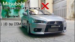 Review mô hình Mitsubishi Lancer Evolution X 2008 1/18 CSM