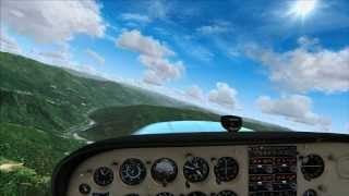 MegaSceneryEarth 2.0 - Approach to Hoopa Airport (O21) in California (FSX)