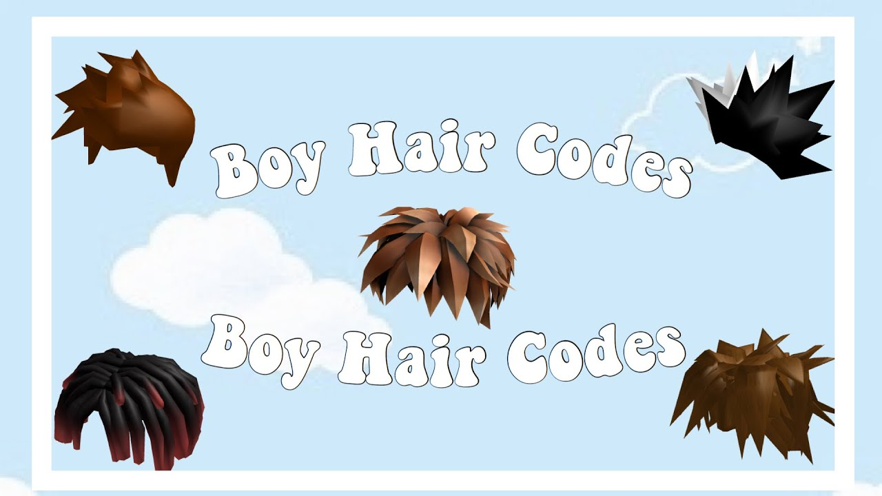 Boy Hair Codes For Bloxburg Other Games Youtube