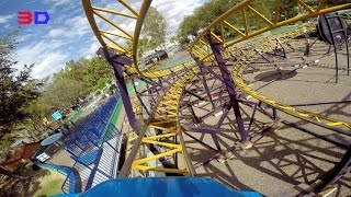 Tornado 3D front seat on-ride HD POV Selva Mágica