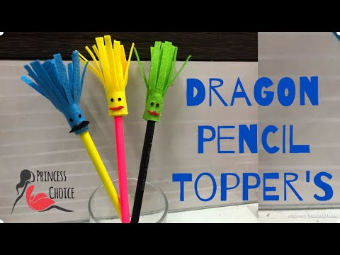 DIY Dragon Pencil Topper! Arts and Crafts// cute pencil toppers for kids|| princess choice