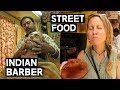 FOREIGNER GETS INDIAN FACE MASSAGE AND BEARD TRIM | STREET FOOD IN  PUSHKAR | INDIA TRAVEL VLOG