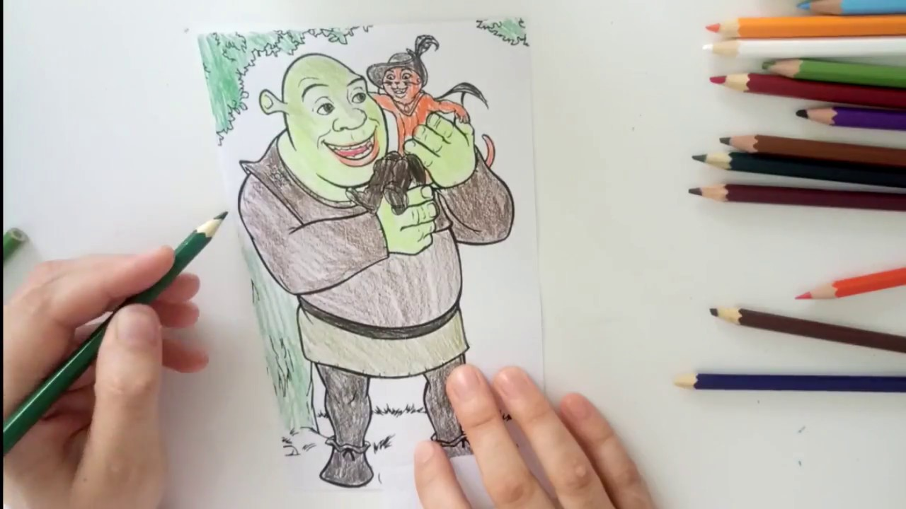 Shrek Boyama Serisi Shrek Boyama Oyunu Youtube