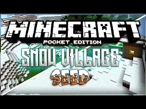 MCPE SNOW VILLAGE SEED! - 0.13.0+ BLACKSMITH VILLAGE! | Minecraft Pocket Edition - Seed Reviews Ep.1