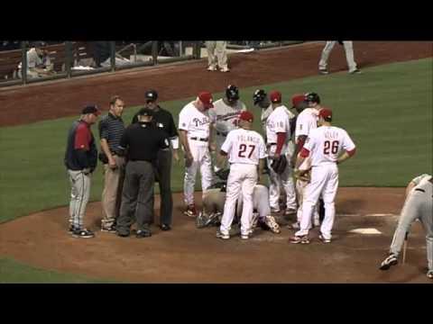 2010/06/18 Ruiz injured by broken bat
