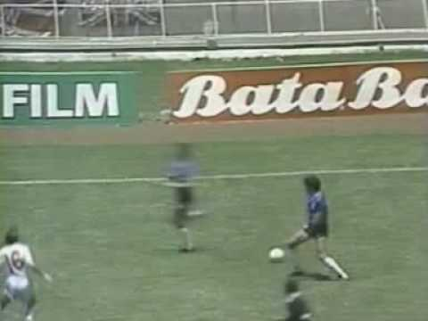 6/10 2nd half Argentina - England WC 1986 1/4 Final