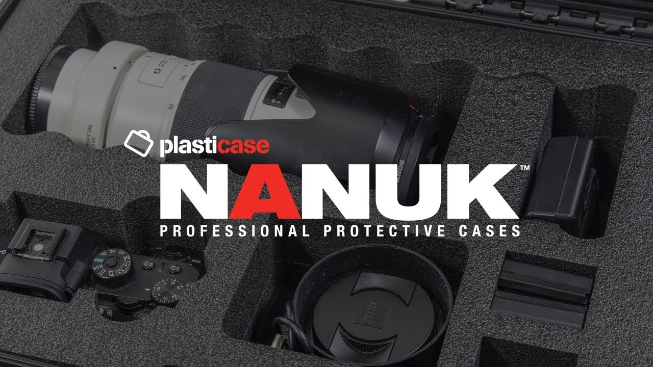 Nanuk 920 Waterproof Hard Case with Lid Organizer for Sony A7R Size Camera Graphite