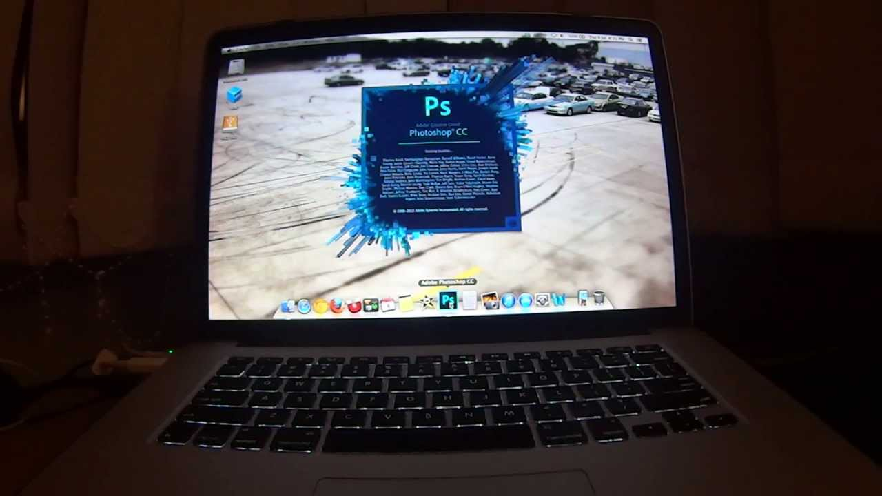 "Adobe Photoshop CC startup on Macbook Pro 15"" Retina (2013"