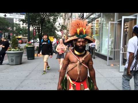 Tribesmen From Papua, New Guinea Visit New York City