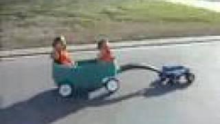 RC Truck Pulls Kids in wagon. by jsills78