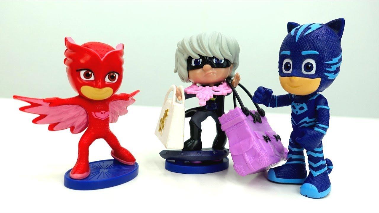 194f00669 Luna Girl robó la tienda. Héroes en pijamas juguetes. - YouTube