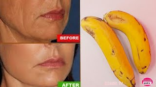 SHE IS 50 BUT LOOKS 30 with anti aging face massage Banana SKIN BRIGHTENING MASK FOR WRINKLE SKIN