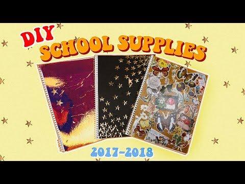 DIY Back To School Supplies 2017-2018!