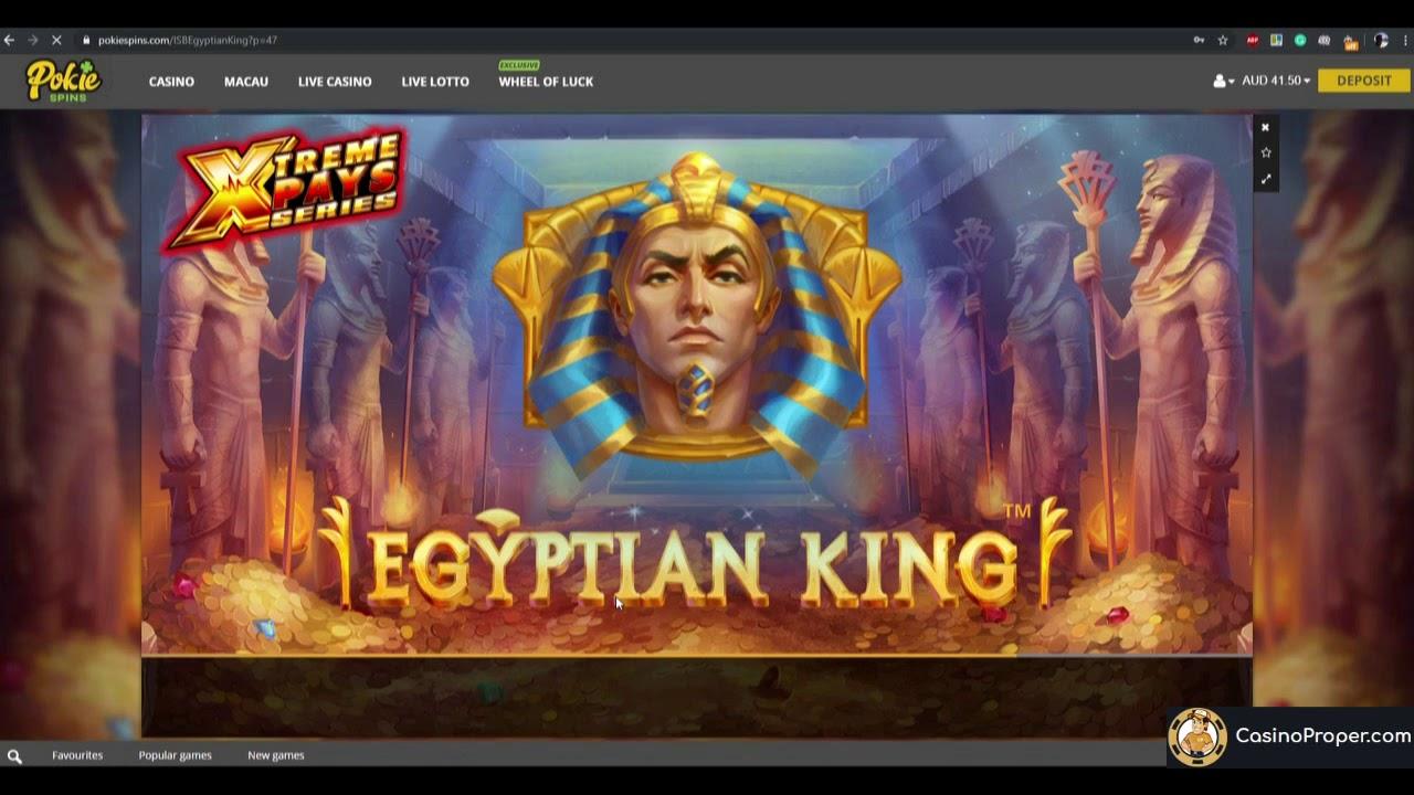Egyptian King Online Pokies At Pokiespins Youtube