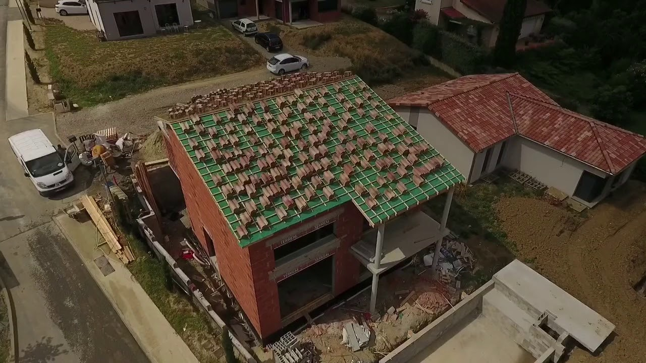b tir sa maison rt2012 vid o drone 8 jprconstruction youtube. Black Bedroom Furniture Sets. Home Design Ideas