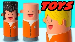 DIY Toilet Paper Roll Craft - Miniature People | Craft Ideas for Kids on Box Yourself