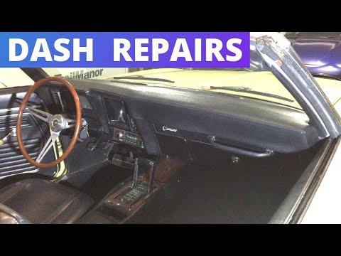 1969 Camaro Convertible Dash Repair, Replace. Broken Heater Switch, Wiper Switch, Dash Pad