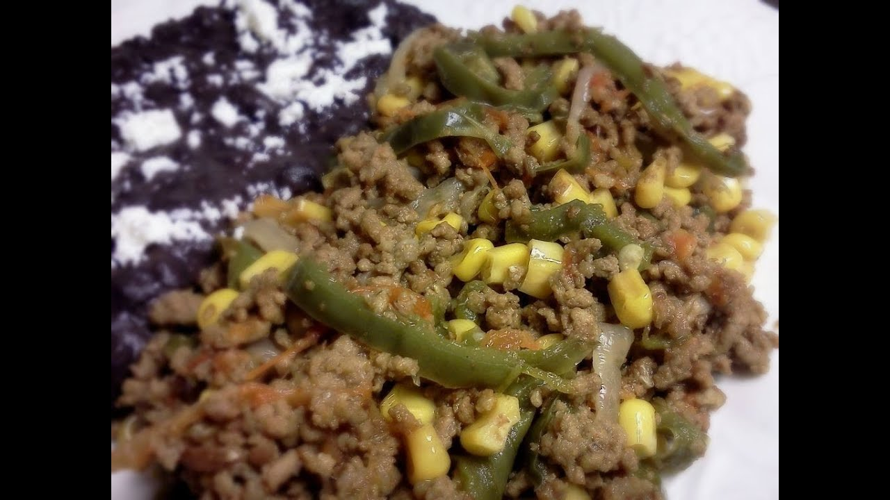 Carne Molida con Rajas de Chile  YouTube