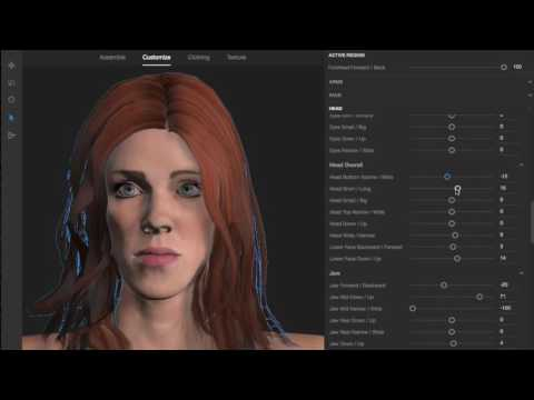 Customizing Faces in Adobe Fuse