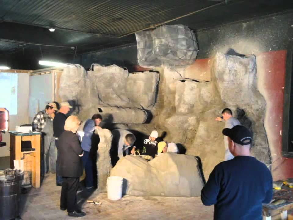 decorative concrete training rock carving - youtube