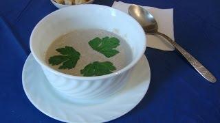 Суп-пюре грибной Видео рецепт