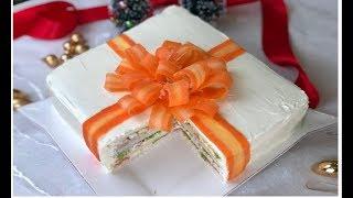 Gambar cover Torta tramezzino regalo di Natale - Torta salata senza cottura / Antipasto