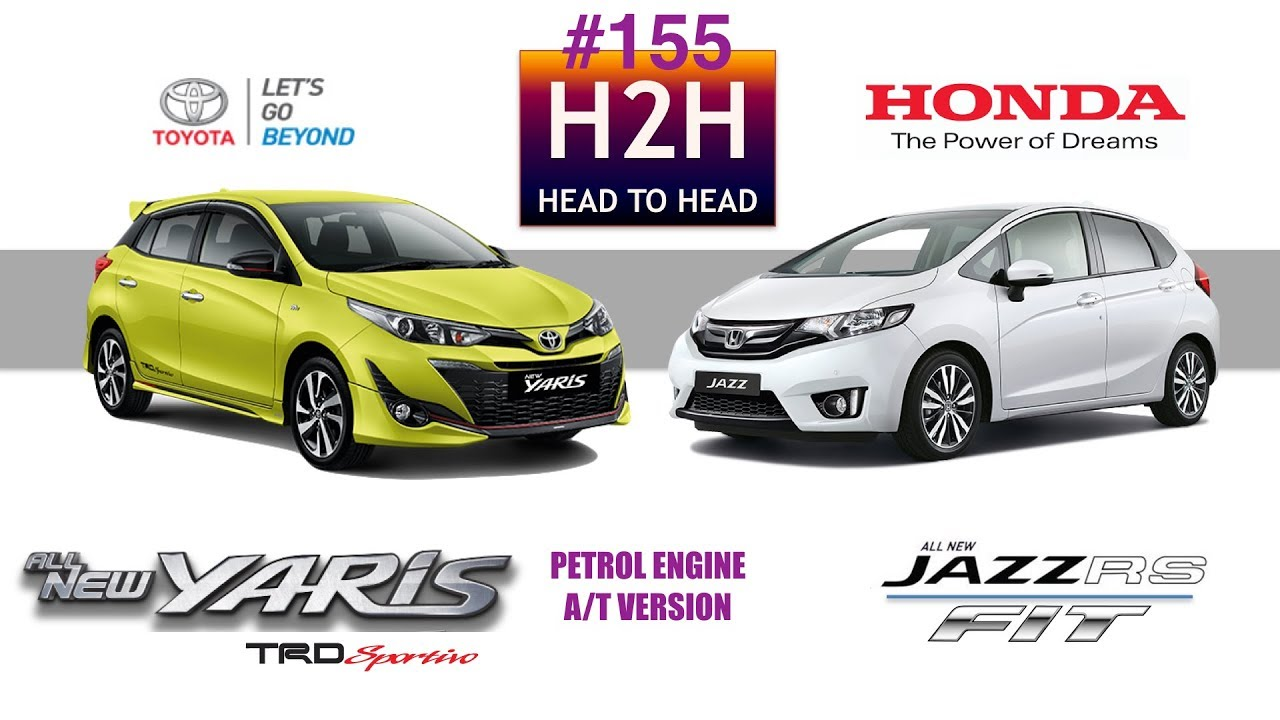 Toyota Yaris Trd Vs Honda Jazz Rs Exhaust H2h 155 All New Youtube