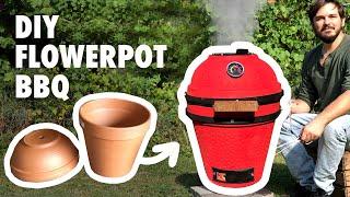 DIY Kamado BBQ grill  - from Flowerpots