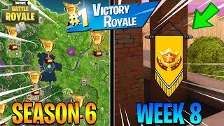 DANCE WITH FISH TROPHY & SECRET BANNER LOCATION! Season 6 Week 8 Challenges (Fortnite Battle Royale)