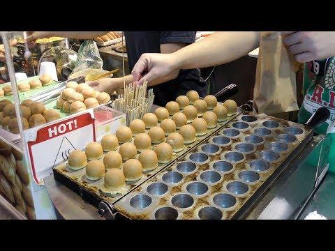Cooking Malaysian 'Kaya Balls'. Singapore Street Food