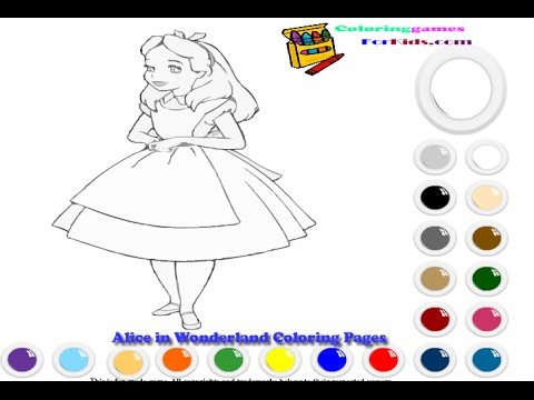 Alice In Wonderland Coloring Pages For Kids - Alice In Wonderland ...