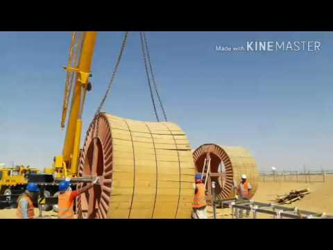 High voltage cable pulling