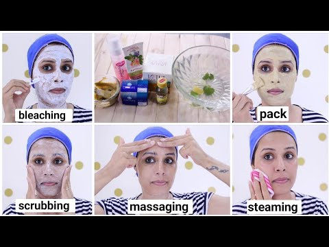 Parlour Like Glowing Facial Step By Step At Home