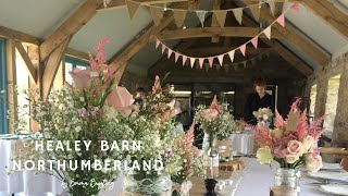 Healey Barn, Northumberland | pink and hessian bunting