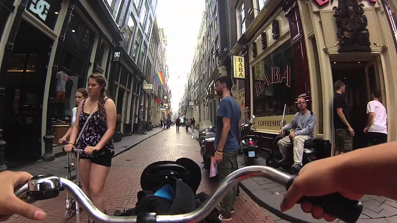 Paseo en bici por amsterdam holanda youtube for Affitto bici amsterdam