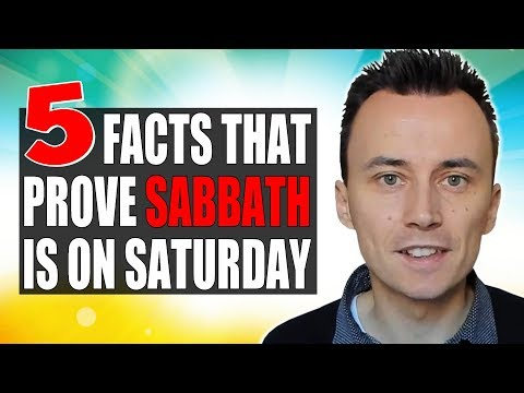 5 FACTS That Prove the SABBATH Is on SATURDAY 😇