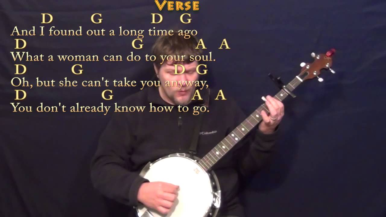 Peaceful Easy Feeling Eagles Banjo Cover Lesson With Chordslyrics
