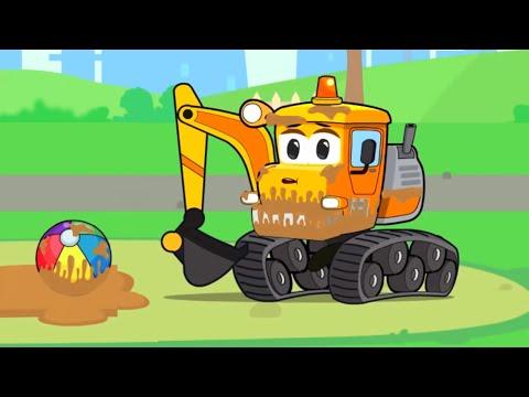 Bagger Kinderfilm - Baue Einen Spielplatz | Vroom Vroom - Cartoon Für Kinder