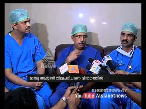 Organ transplantation success : doctors speaking after finishing the heart transplantation